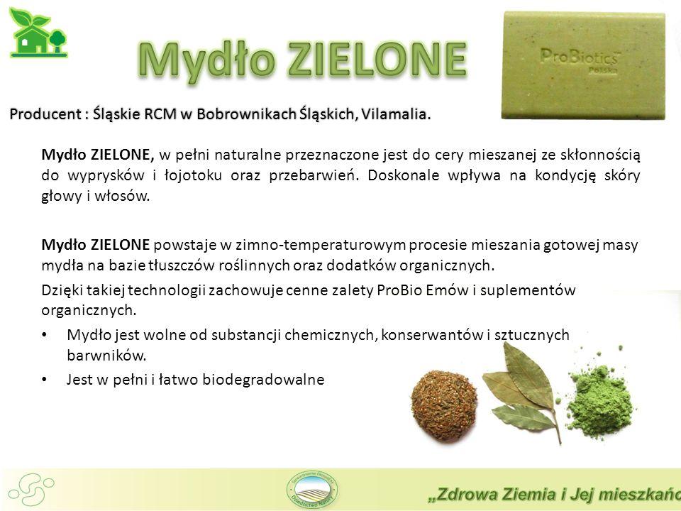 Mydło ZIELONE Producent : Śląskie RCM w Bobrownikach Śląskich, Vilamalia.