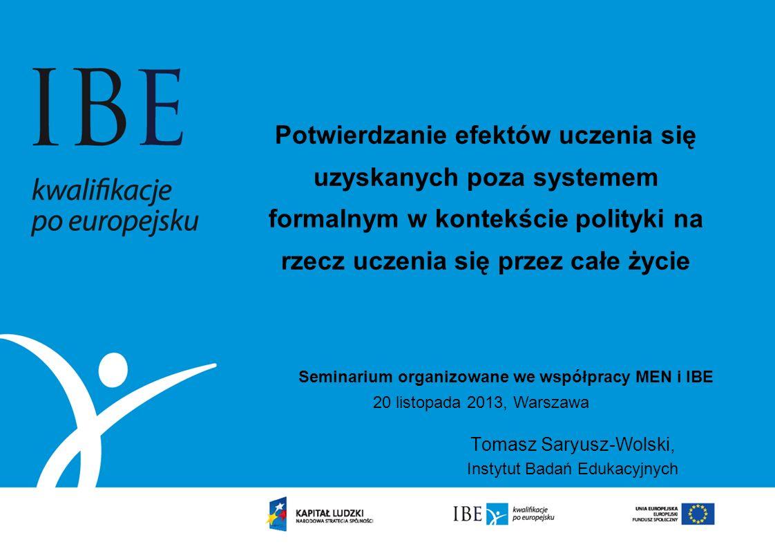 Tomasz Saryusz-Wolski, Instytut Badań Edukacyjnych