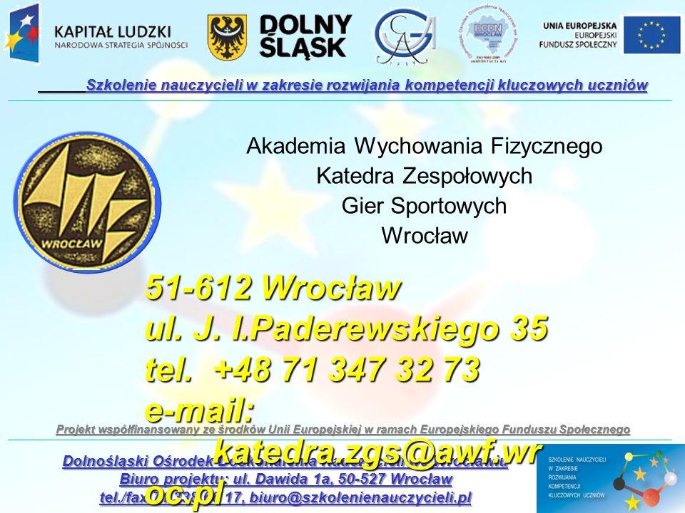 e-mail: katedra.zgs@awf.wroc.pl