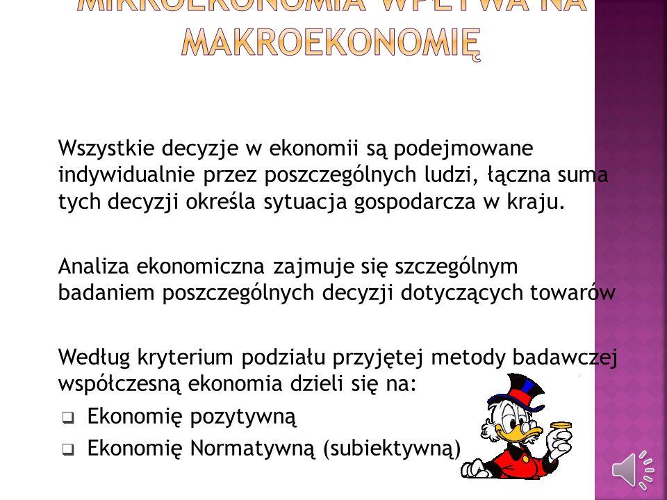 Mikroekonomia wpływa na makroekonomię