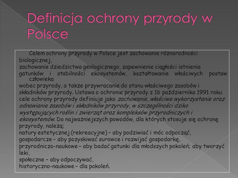 Definicja ochrony przyrody w Polsce
