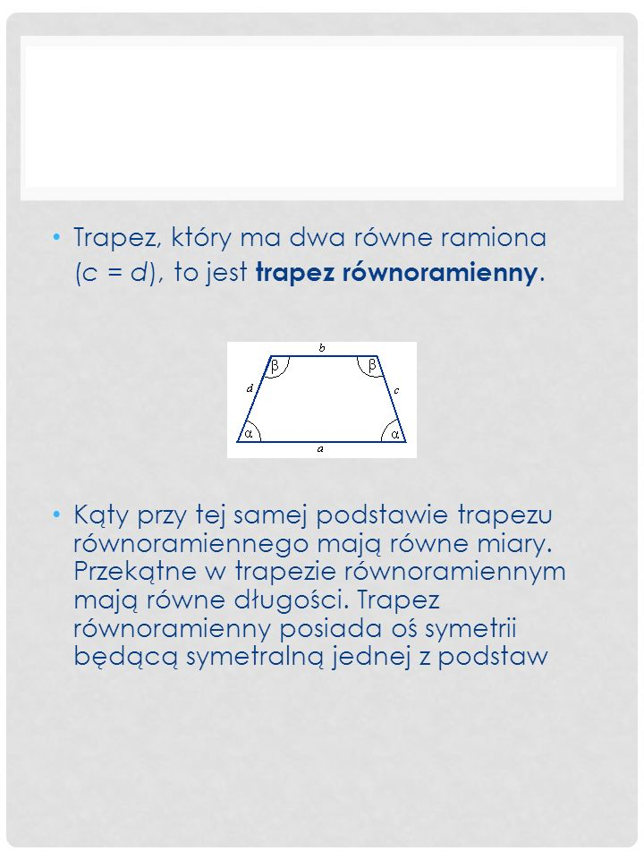 Trapez, który ma dwa równe ramiona