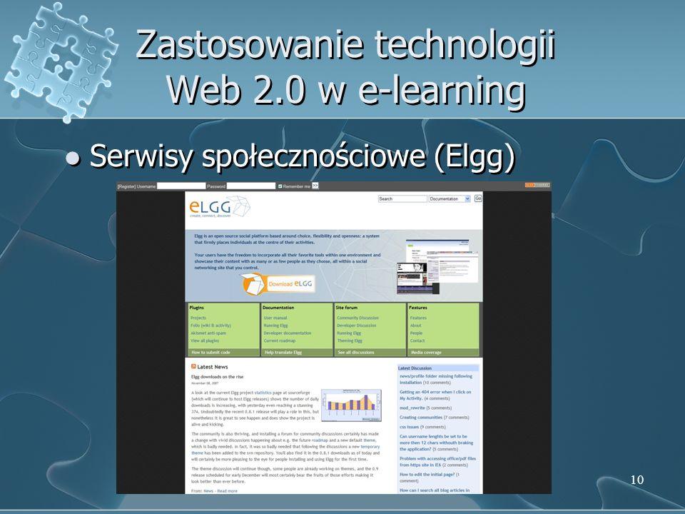 Zastosowanie technologii Web 2.0 w e-learning