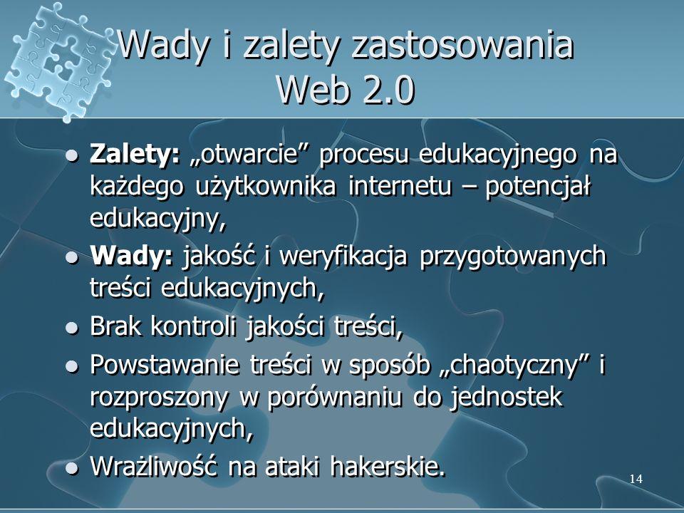 Wady i zalety zastosowania Web 2.0