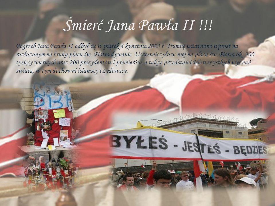 Śmierć Jana Pawła II !!!