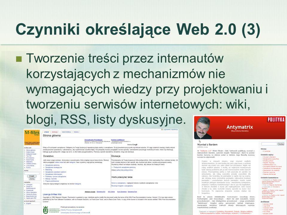 Czynniki określające Web 2.0 (3)