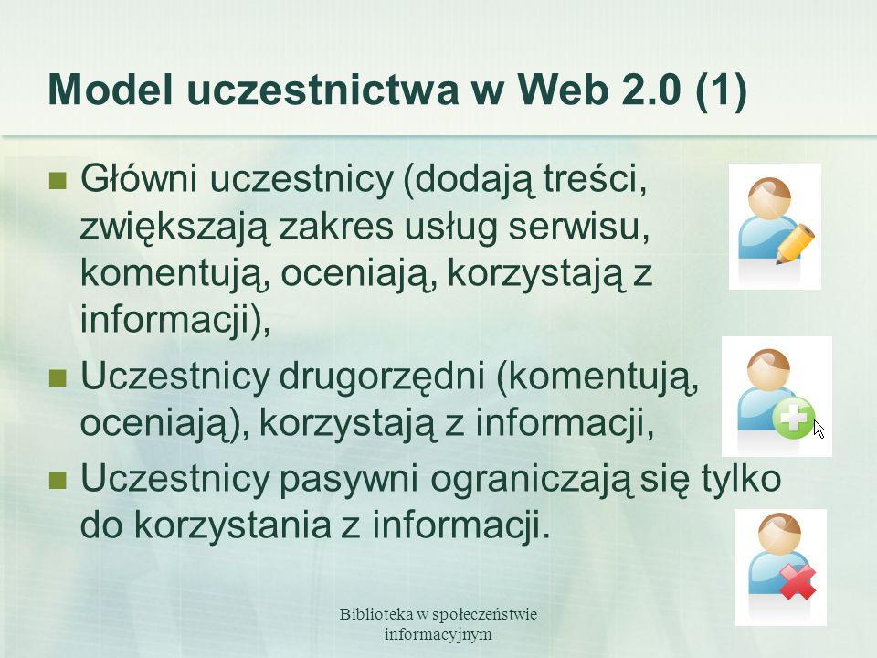 Model uczestnictwa w Web 2.0 (1)