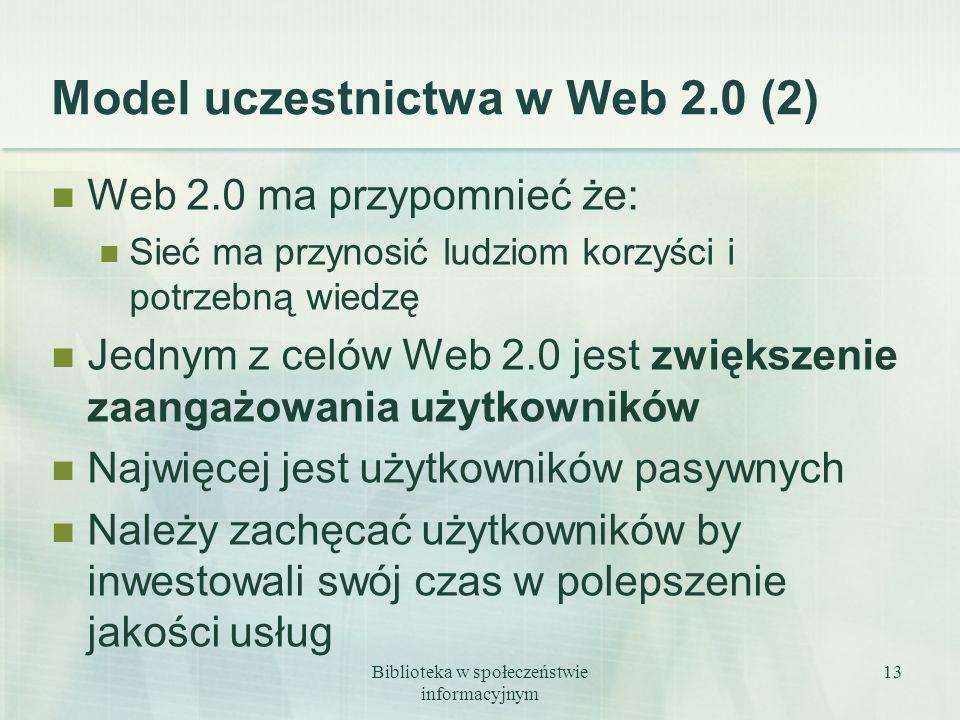 Model uczestnictwa w Web 2.0 (2)