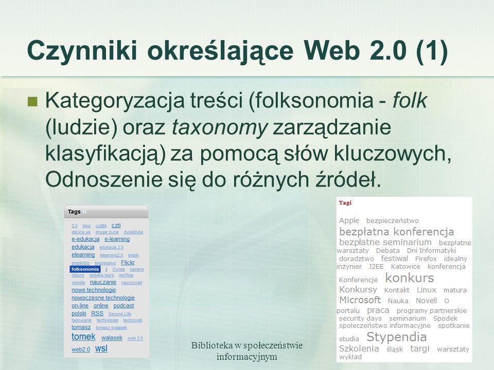 Czynniki określające Web 2.0 (1)