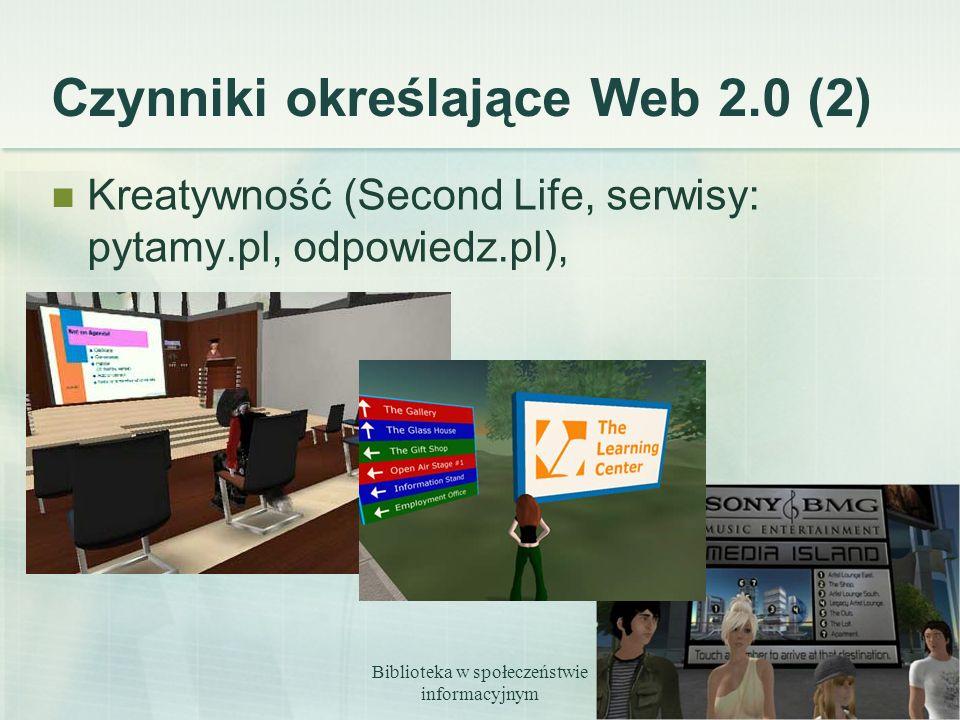 Czynniki określające Web 2.0 (2)