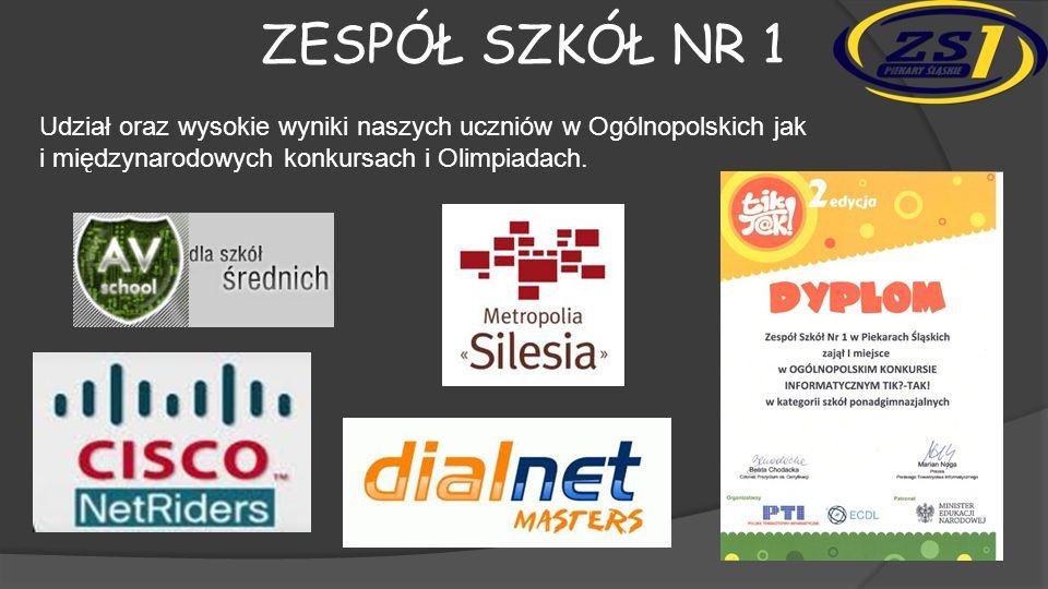 Zespół szkół nr 1 Udział oraz wysokie wyniki naszych uczniów w Ogólnopolskich jak i międzynarodowych konkursach i Olimpiadach.