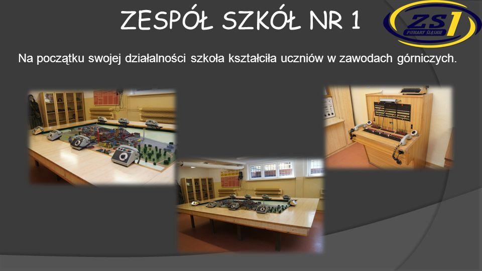 Zespół szkół nr 1 Na początku swojej działalności szkoła kształciła uczniów w zawodach górniczych.
