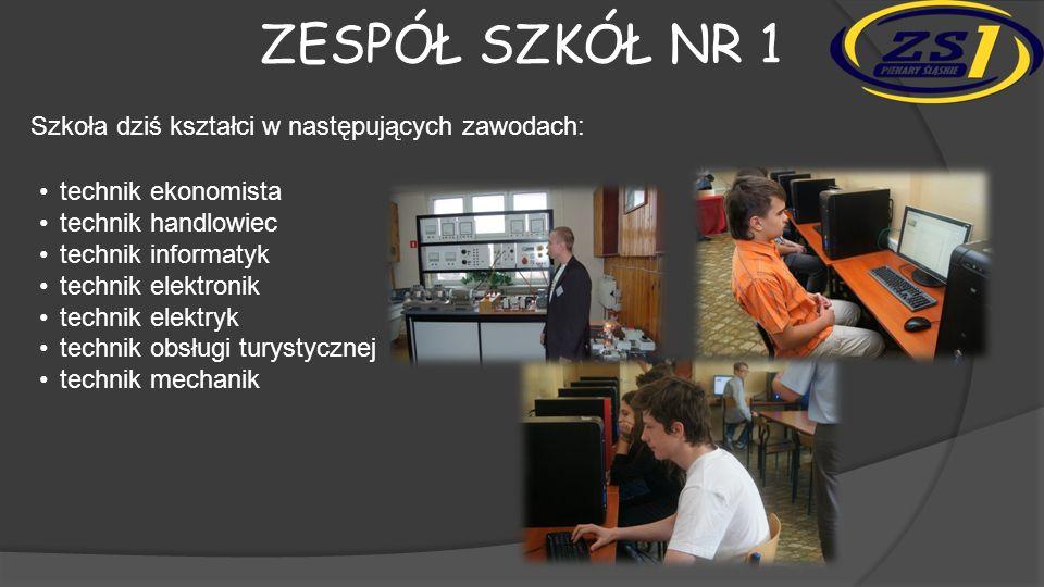 Zespół szkół nr 1 Szkoła dziś kształci w następujących zawodach: