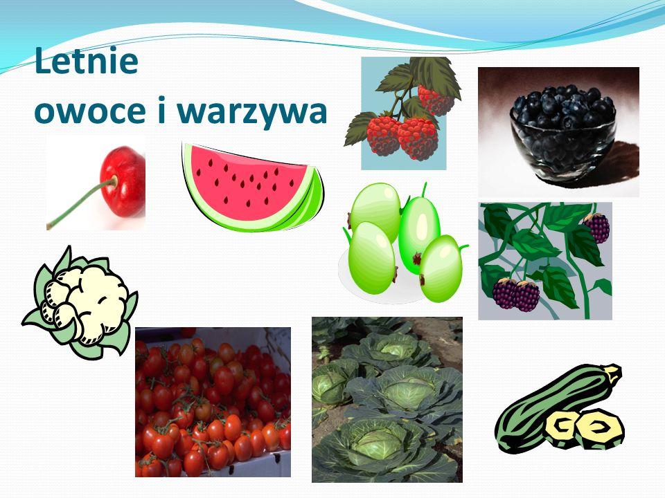Letnie owoce i warzywa
