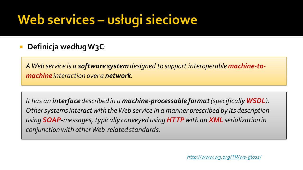 Web services – usługi sieciowe