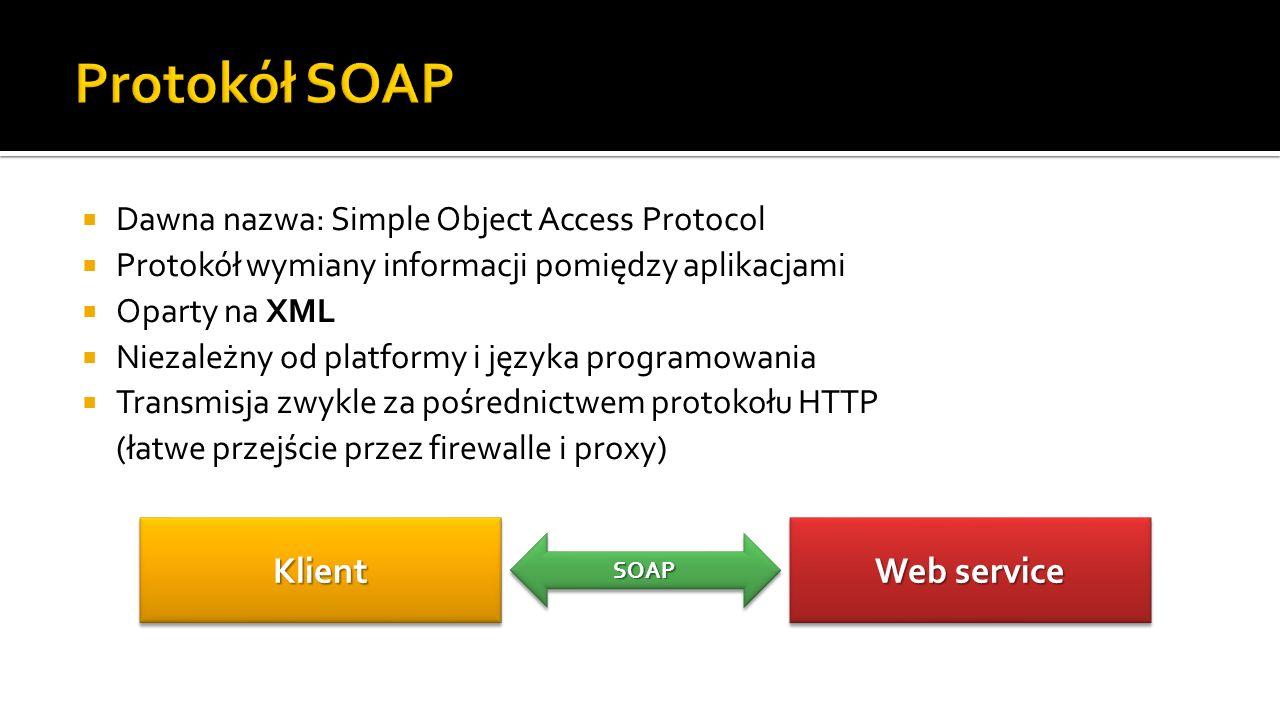 Protokół SOAP Klient Web service