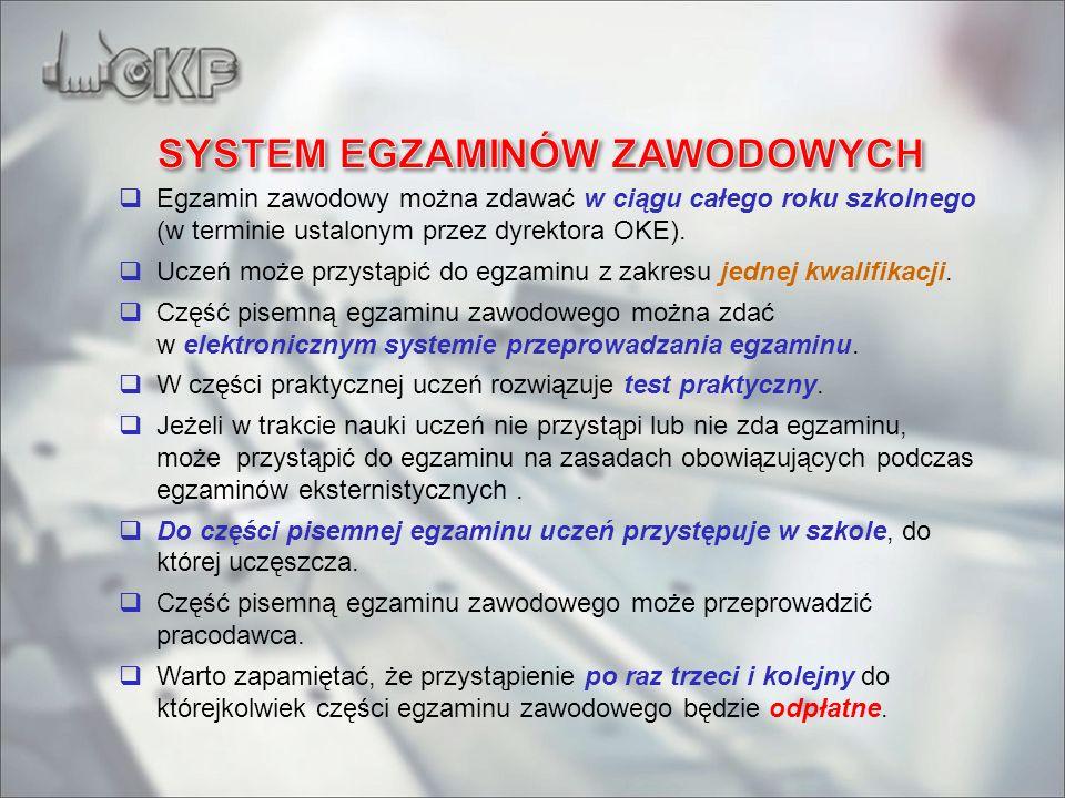 SYSTEM EGZAMINÓW ZAWODOWYCH