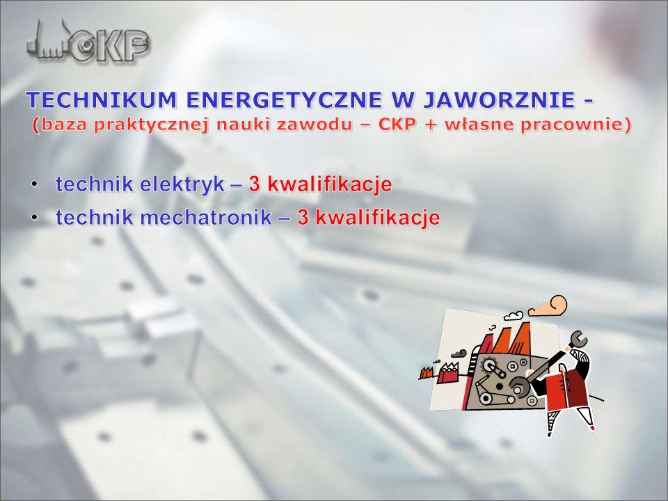 TECHNIKUM ENERGETYCZNE W JAWORZNIE - (baza praktycznej nauki zawodu – CKP + własne pracownie)