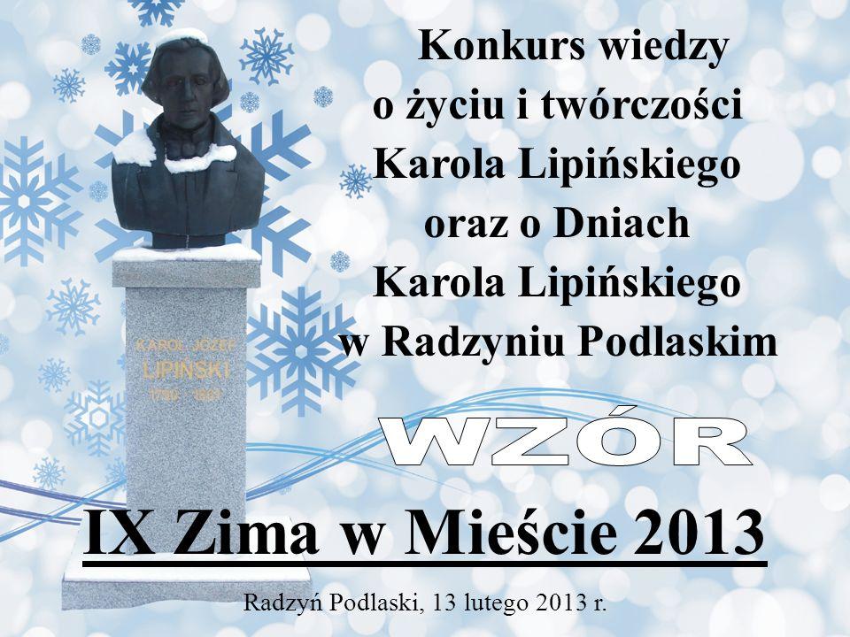 Radzyń Podlaski, 13 lutego 2013 r.