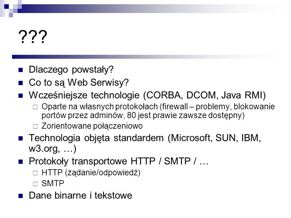 Dlaczego powstały Co to są Web Serwisy
