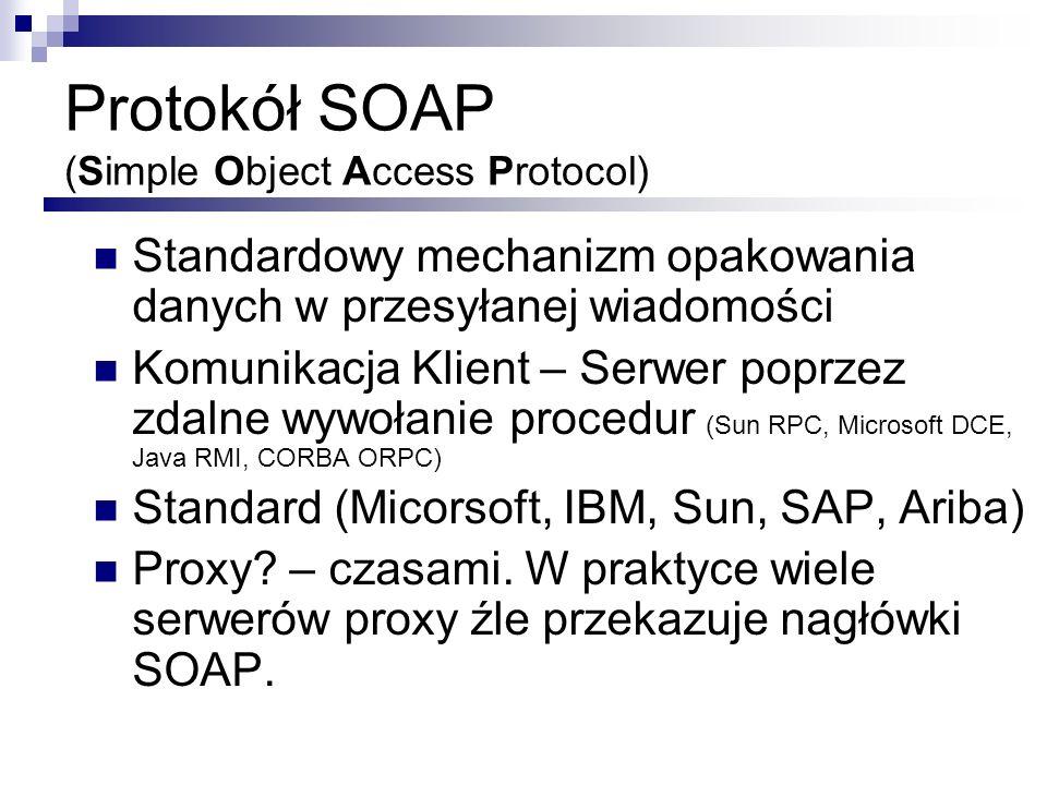 Protokół SOAP (Simple Object Access Protocol)