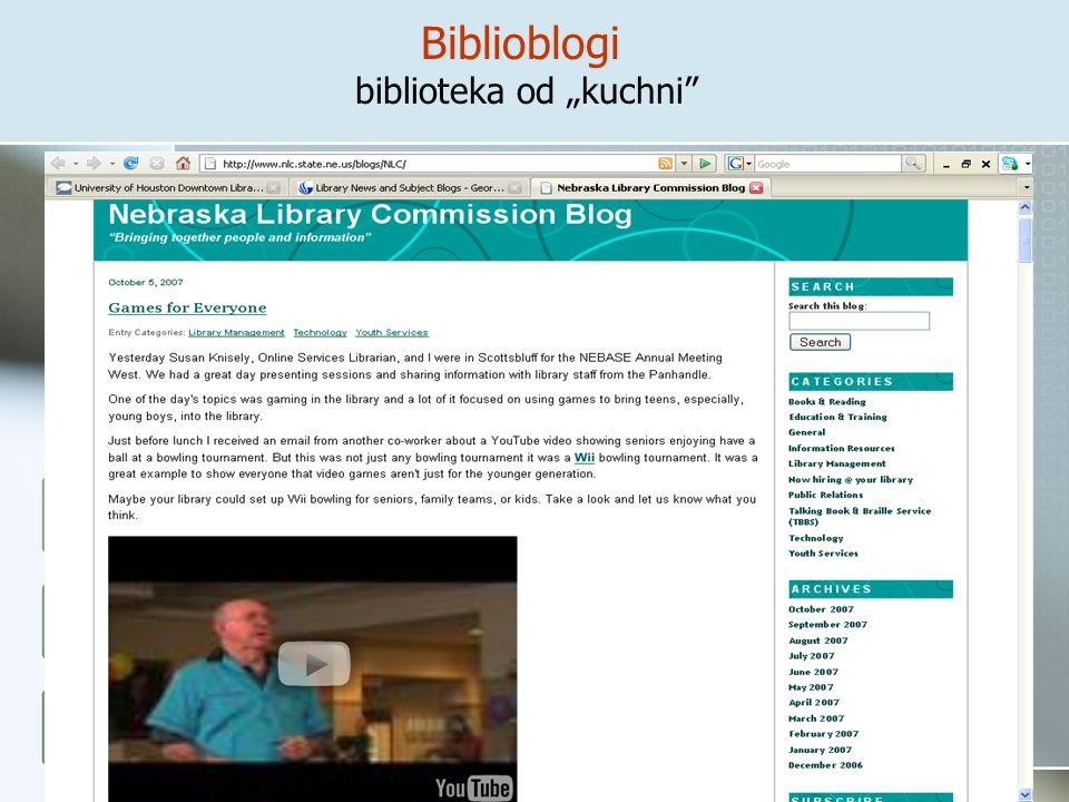 "Biblioblogi biblioteka od ""kuchni"