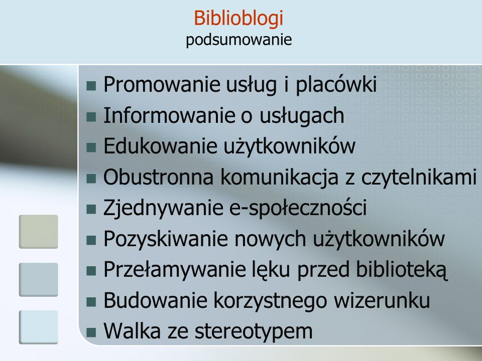 Biblioblogi podsumowanie