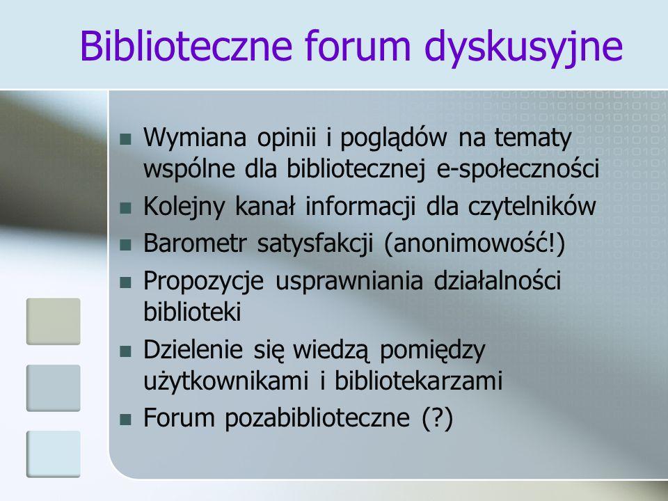 Biblioteczne forum dyskusyjne