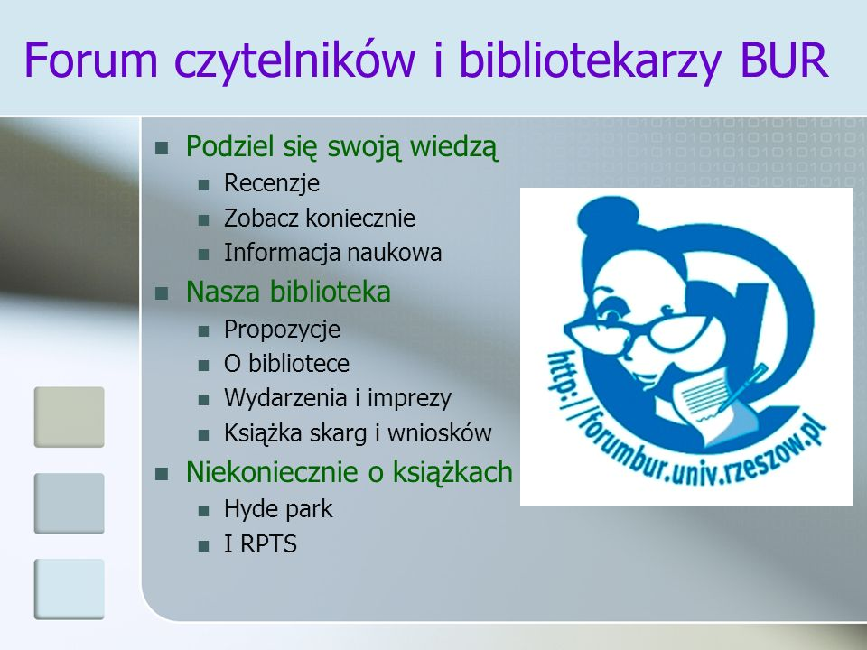 Forum czytelników i bibliotekarzy BUR