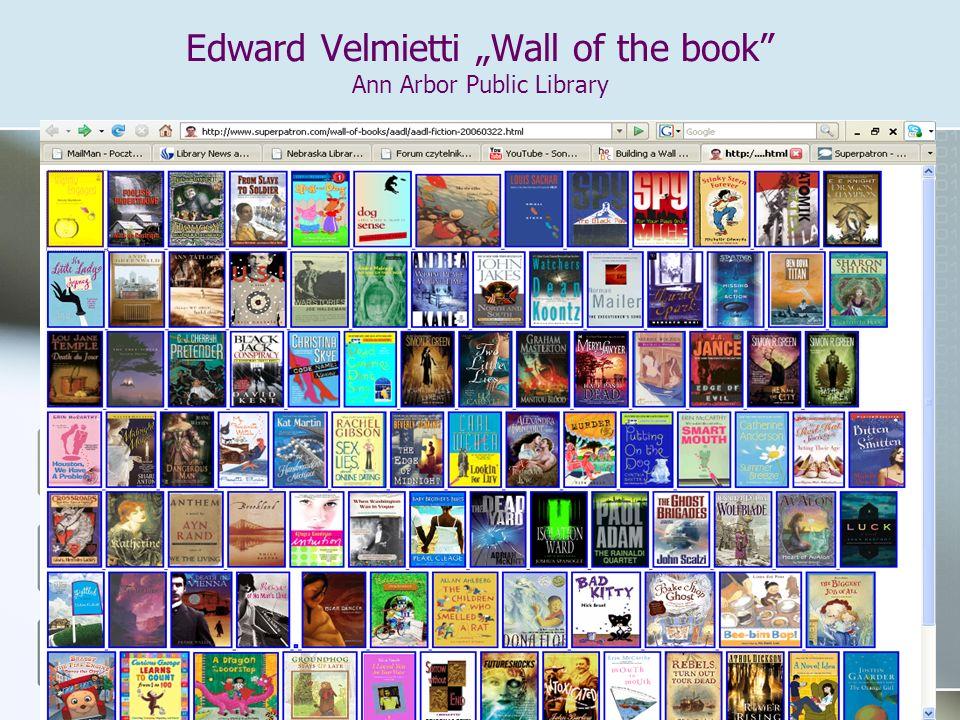 "Edward Velmietti ""Wall of the book Ann Arbor Public Library"
