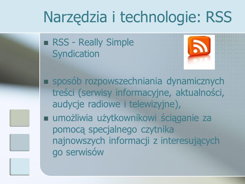 Narzędzia i technologie: RSS