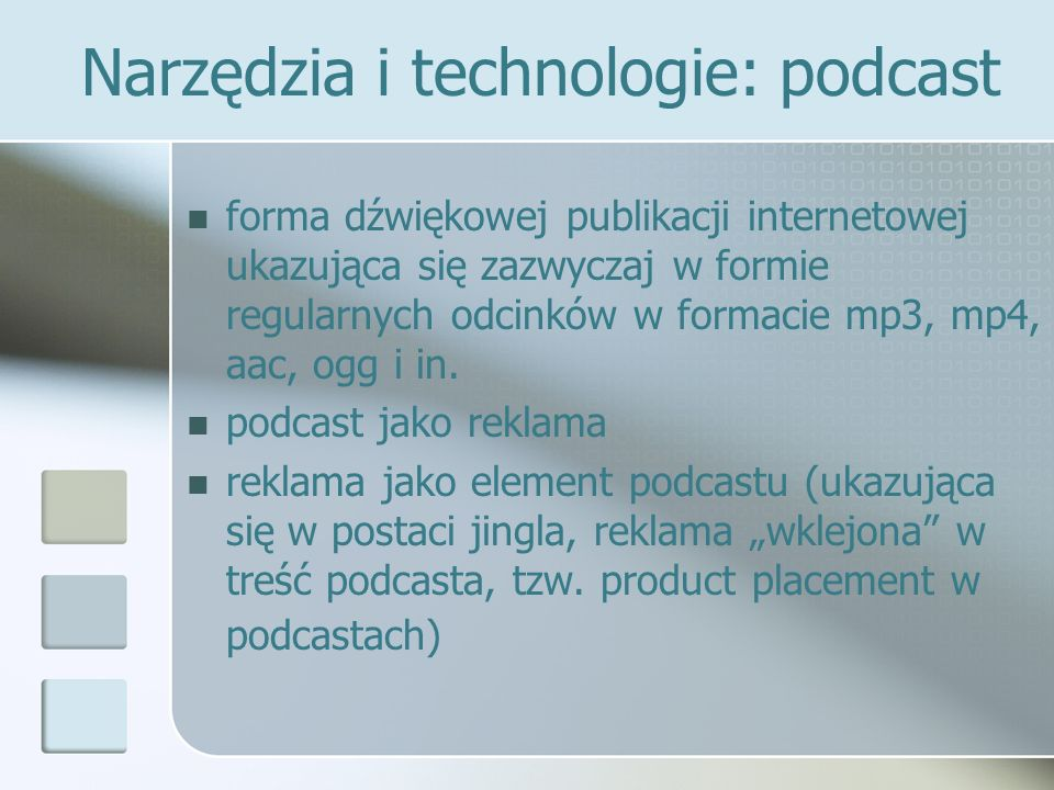 Narzędzia i technologie: podcast