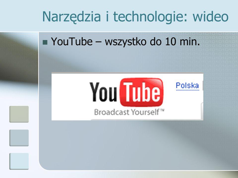 Narzędzia i technologie: wideo