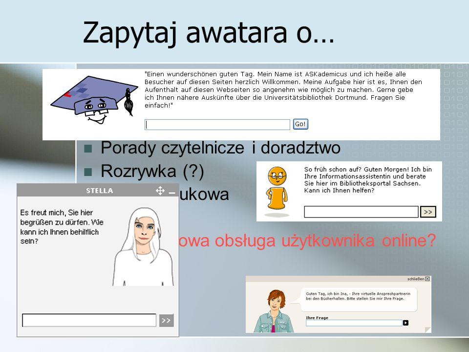 Zapytaj awatara o… Informacje teleadresowe