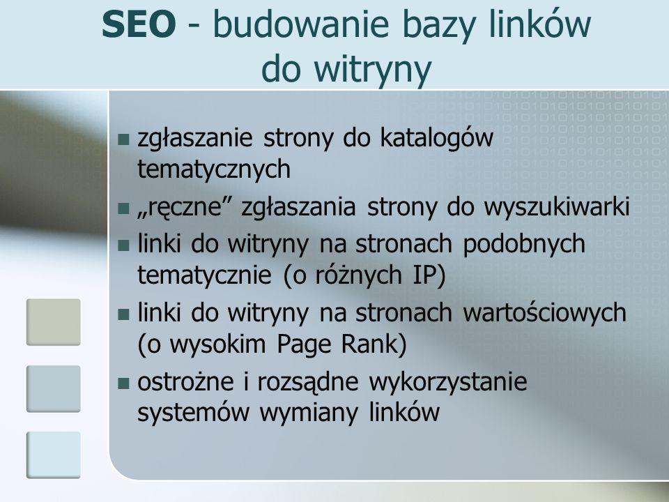 SEO - budowanie bazy linków do witryny