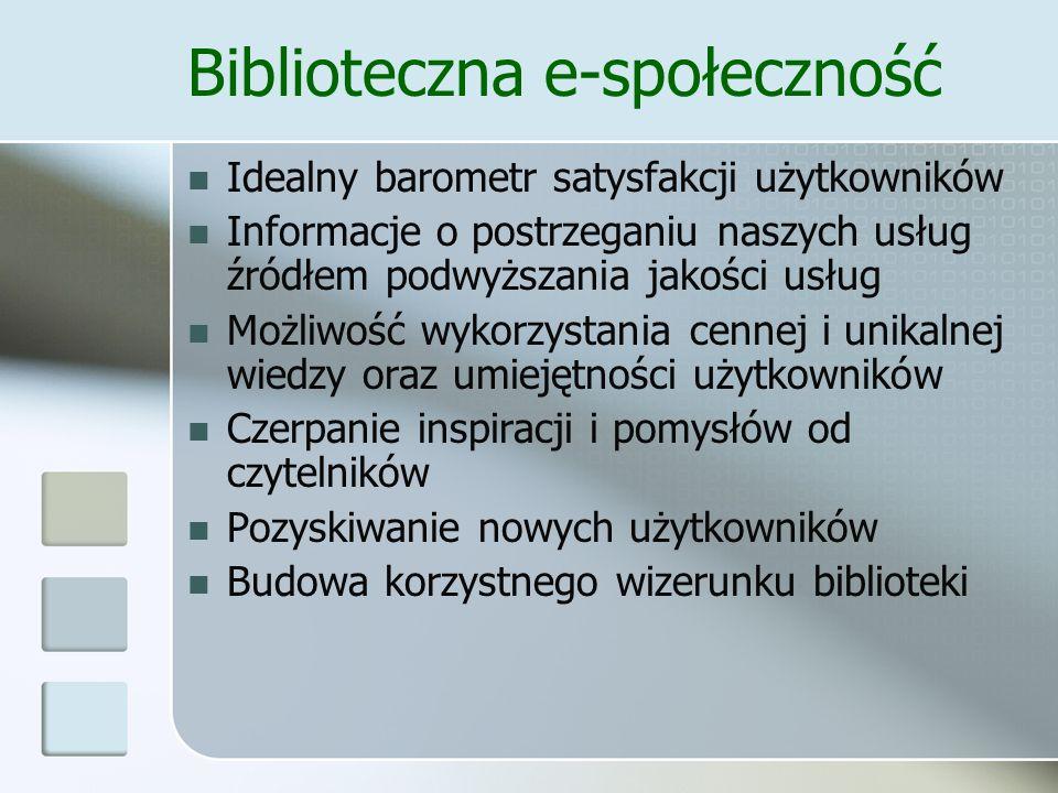 Biblioteczna e-społeczność