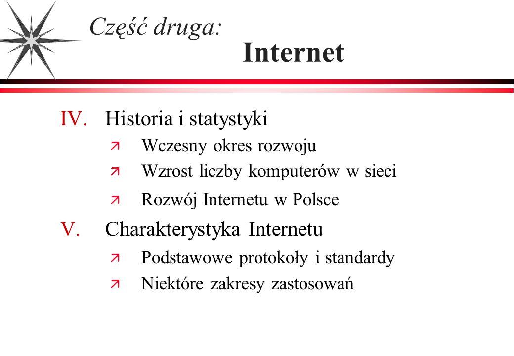 Część druga: Internet IV. Historia i statystyki