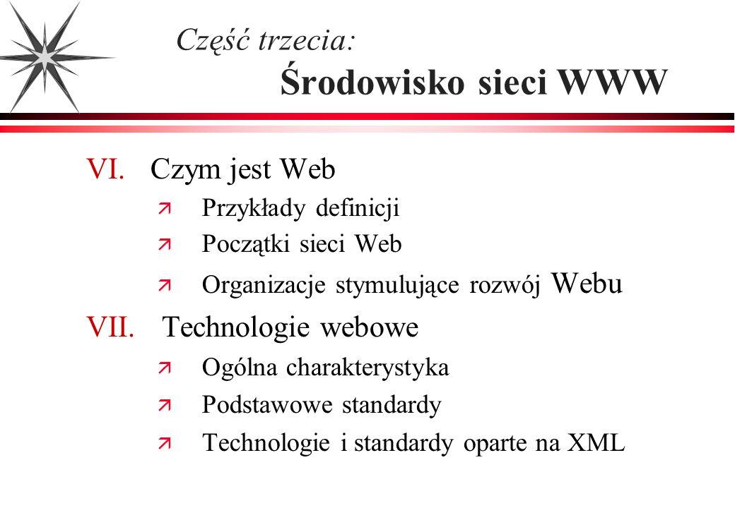Część trzecia: Środowisko sieci WWW