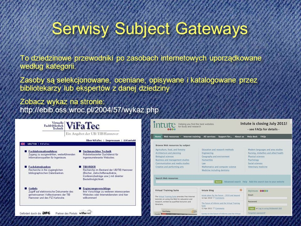 Serwisy Subject Gateways