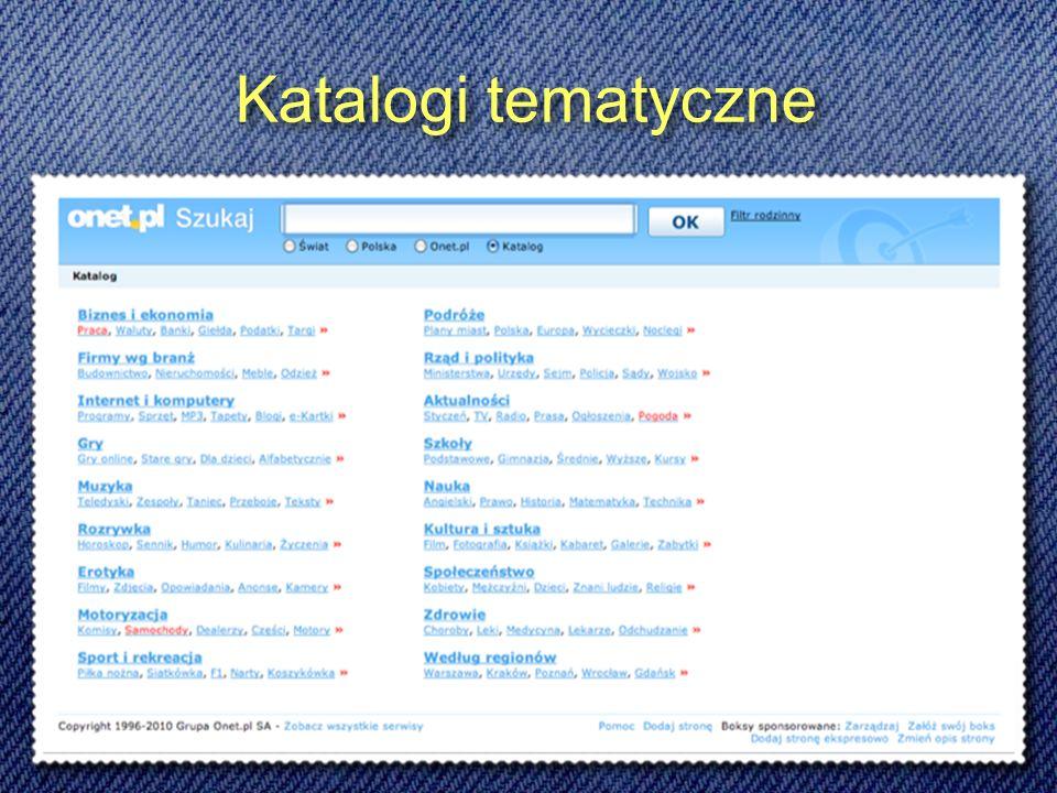 Katalogi tematyczne