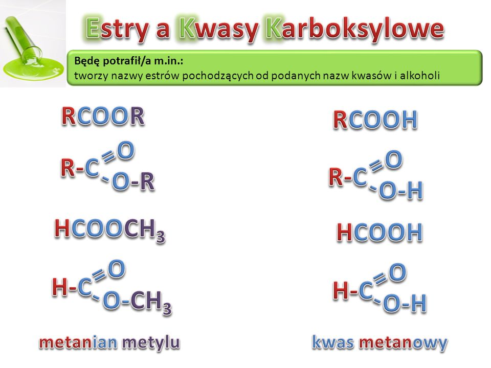 Estry a Kwasy Karboksylowe