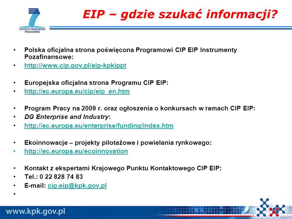EIP – gdzie szukać informacji