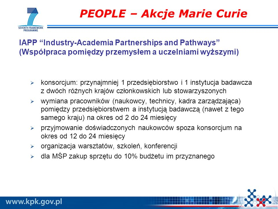PEOPLE – Akcje Marie Curie