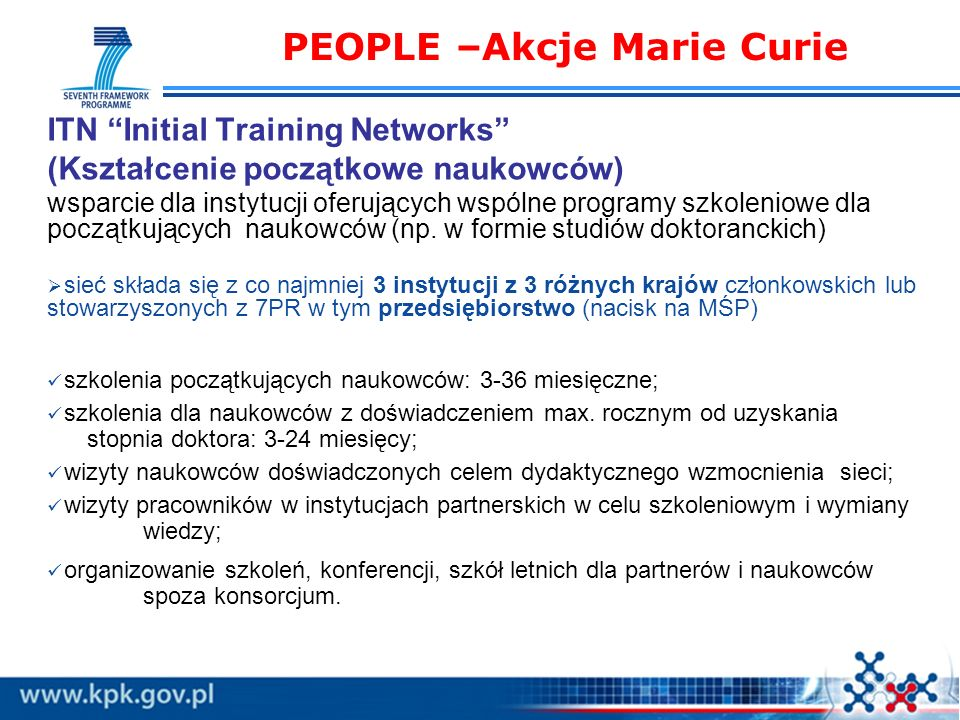 PEOPLE –Akcje Marie Curie