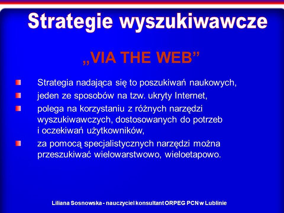 Liliana Sosnowska - nauczyciel konsultant ORPEG PCN w Lublinie