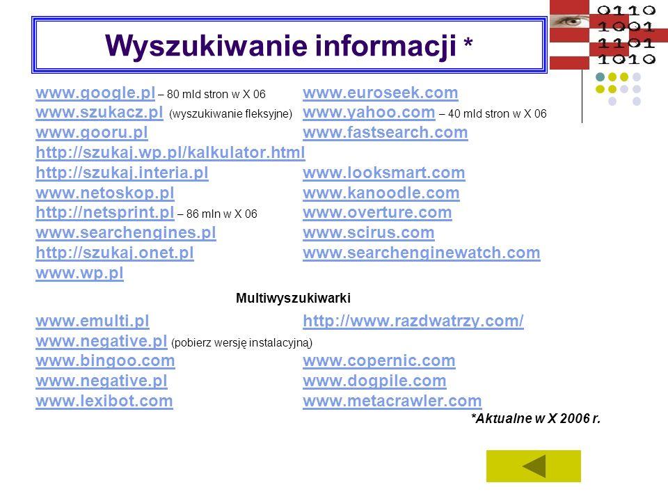 Wyszukiwanie informacji *