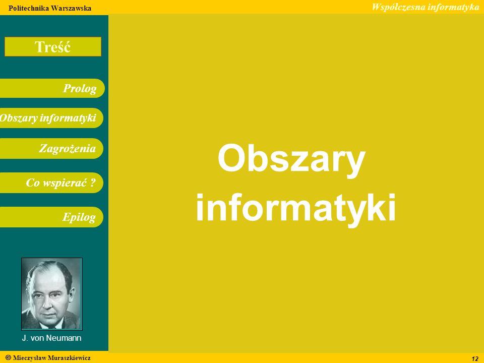 Obszary informatyki