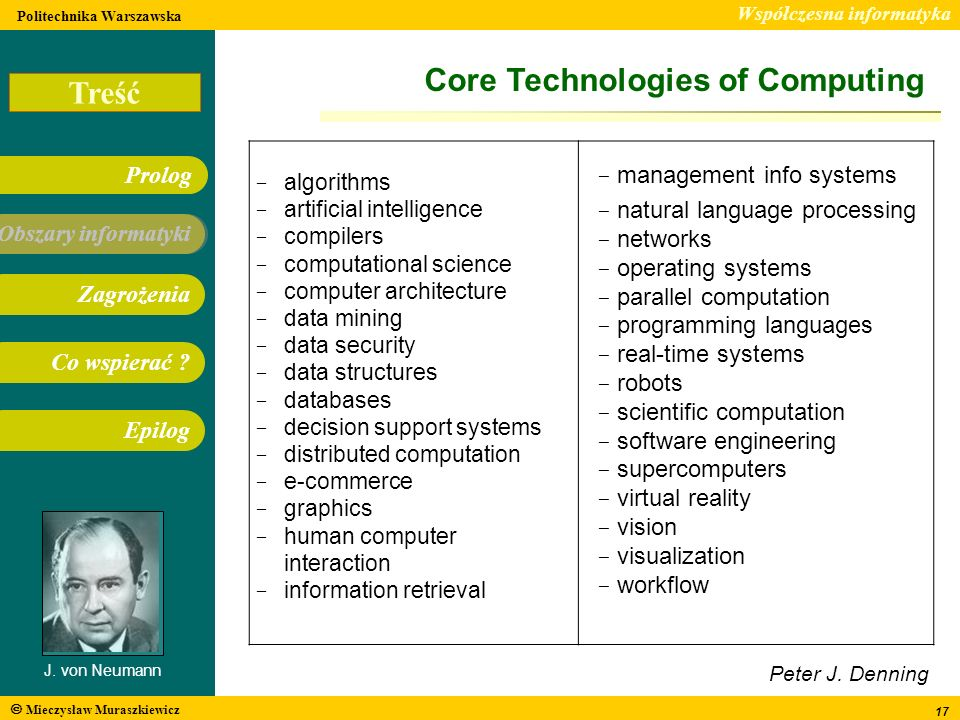 Core Technologies of Computing