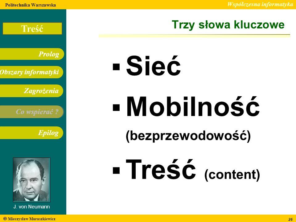 Mobilność (bezprzewodowość) Treść (content)