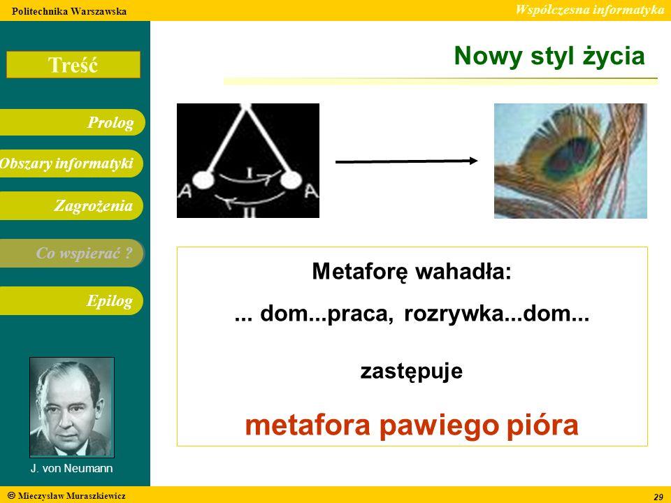 metafora pawiego pióra